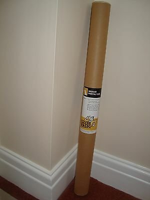 A1 - 640mm x 50mm Cardboard Postal Storage mailing  Tubes with End Caps