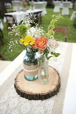 10x Ash Wooden Tree Slice Wedding Centrepiece Rustic Wedding Decoration