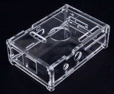 2x Raspberry Pi Transparent Clear Acrylic Case Shell Enclosure Computer Box kits
