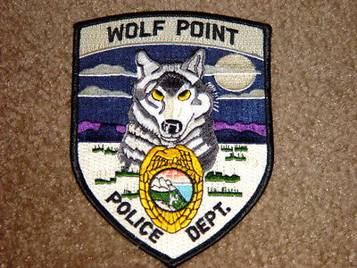 Wolf Point Montana Police Shoulder Patch New and Never Used