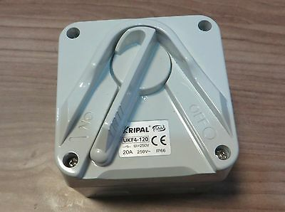 1 Pole Mini Isolator Switch 20A 20 AMP IP56 Weatherproof