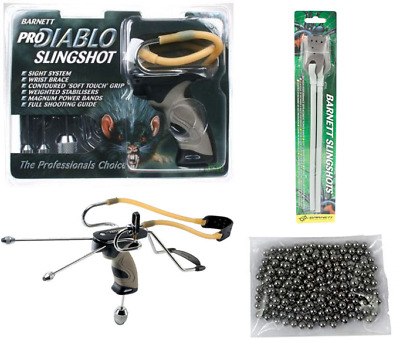 Barnett PRO DIABLO Slingshot/Catapult Kit with Band + Ammo