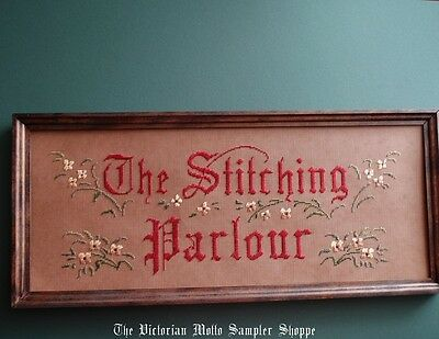 Victorian motto, antique style Perforated Paper motto kit The Stitching Parlour