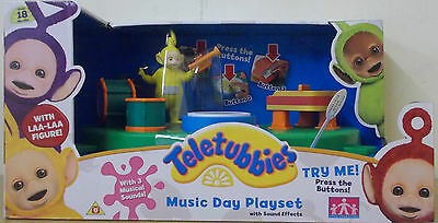 Teletubbies ~ Music Day Playset ~ With Sound Effects Inc Laa Laa Figure
