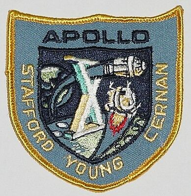 Aufnäher Patch Raumfahrt NASA APOLLO 10 Stafford Young Cerman ...........A3061