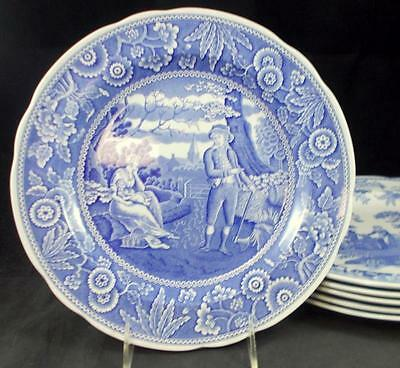 Spode BLUE ROOM COLLECTION 6 Dinner Plates Varioius designs GREAT CONDITION