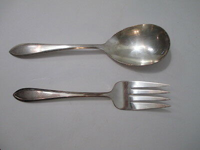 WM Rogers IS AA 2 Serving Pieces Meat Fork  and Salad Spoon