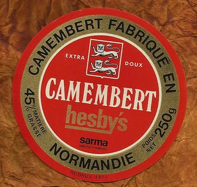 Normandie  Ancienne Etiquette Camembert Hesby S Sarma