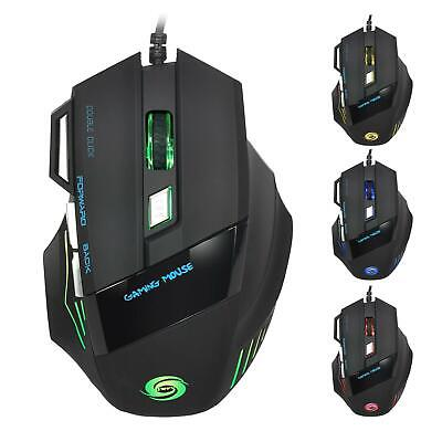 Cool 5500 DPI Mice 7 LED buttons Wired USB Optical Gaming Mouse for Pro Gamer US
