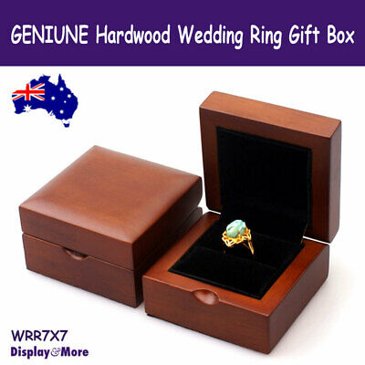 Ring Box Engagement Wedding WOOD High Quality | GENUINE Hardwood | AUSSIE Seller