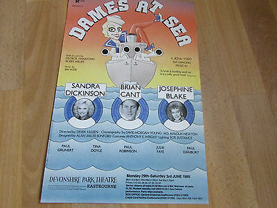 DAMES at SEA Sandra Dickinson & Brian Cant 1989 EASTBOURNE Park Theatre Poster