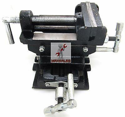 "4"" CROSS DRILL PRESS Vise X-Y Clamp Heavy Duty Machine Slide Metal Milling 2 Way"