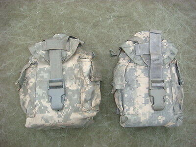 Molle II Canteen / Utility Pouch ACU Digital Camo Pattern - Lot of two (2)