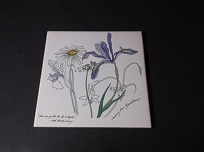 Mary Lou Goertzen Iris & Daisy tea tile by Block China