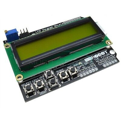 1PCS 1602 LCD Board Keypad Shield Yellow Backlight For Arduino Expansion Board