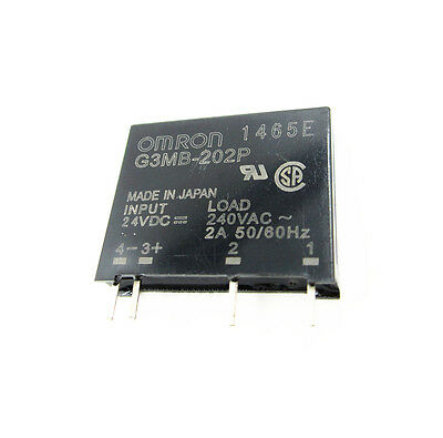 5PCS G3MB-202P DC-AC PCB SSR In 24V DC AC 2A Out 240V Solid State Relay Module