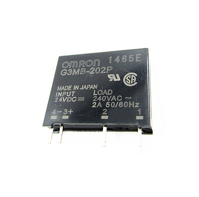 2PCS G3MB-202P DC-AC PCB SSR In 24V DC AC 2A Out 240V Solid State Relay Module