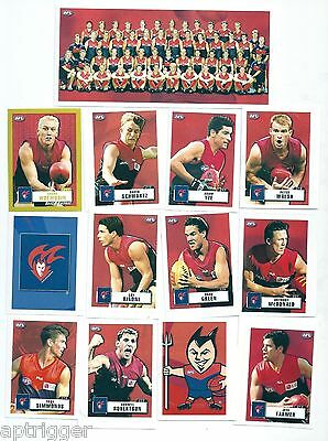 2001 Team & Player Sticker Collection MELBOURNE (22 Stickers)