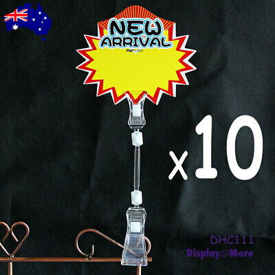BEST VALUE 10X Retail Shop Pop Sale Price Sign Card Clip Holder | AUSSIE Seller