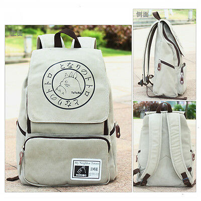 Anime My Neighbor Totoro Canvas Backpack Sport Outdoor Boy Girls School Bag Gift