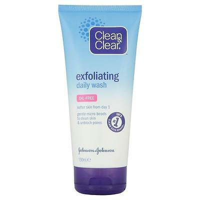 ** CLEAN & CLEAR EXFOLIATING DAILY FACIAL WASH 150ml NEW ** FACE OIL FREE