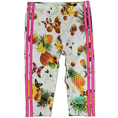 Adidas Originals Mädchen Flower Fruits Hose Baby Kinder Leggings Weiss Pink 68