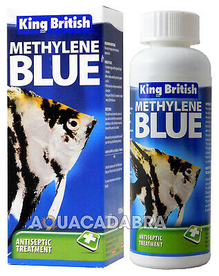 KING BRITSH METHYLENE BLUE ANTISEPTIC FISH WATER TREATMENT 100ml MEDICINE FUNGI