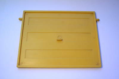 Dolls House Moulded Garage Door Yellow 1/16 Scale W/2 Lugs For Top Swivel Fix