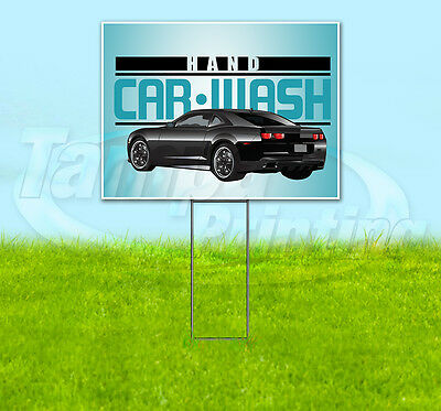 "Hand Car Wash 18""x24"" Yard Sign Retail Store Sign Quantity Discount"