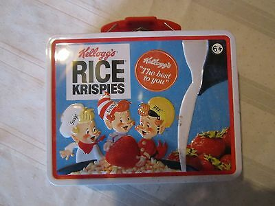 Collectable Tin Box Co Kelloggs Rice Krispies Lunch Box Snap Crackle Pop nice