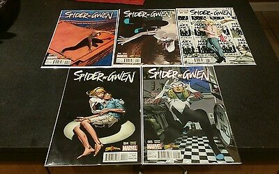 SPIDER-GWEN 1 2 3 4 5 COMICXPOSURE  VARIANTS /Lot of 5 comics