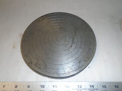 "MACHINIST LATHE MILL  Machinist Round 7"" Hoing Lapping Polishing Plate"