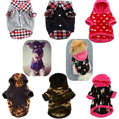New Hoodie Pet Dog Shirt Winter Warm Clothes Sweater Costume Jacket Coat Apparel