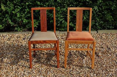 Pair of Single Slatted Back Dining Chairs - Ideal Upcycle Project