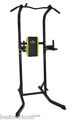 Station de musculation multifonction dips traction triceps pompe muscles abdo