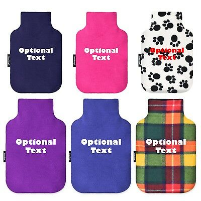 WheatyBags® Personalised Hot Water Bottle Cover with Free 2L Bottle