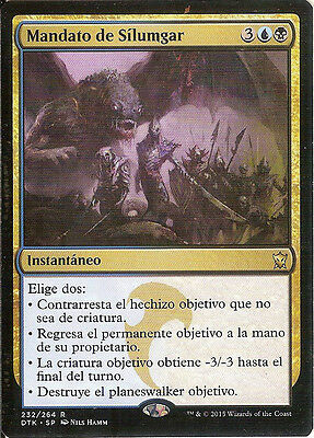 mtg Magic 1x Silumgar's Command ( Mandato de Silumgar  ) Near Mint- Spanish