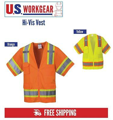 High Visibility Safety Vest Sleeved Hi Vis Class 3 Reflective, Portwest US373