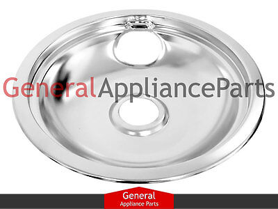 "GE General Electric Stove Range Cooktop 8"" Burner Chrome Drip Bowl WB32X5091"