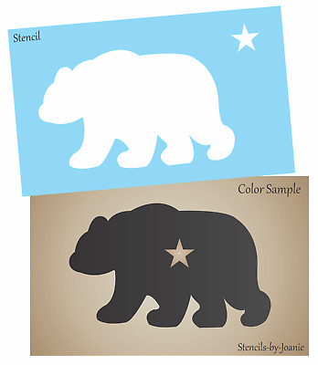 Stencil 6 Wide Rustic Mountain Lodge Black Bear Star Cabin Home Art Craft Signs