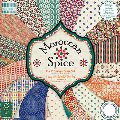 TRIMCRAFT FIRST EDITION MOROCCAN SPICE 8 x 8  PAPER SAMPLE PACK 16 SHEETS