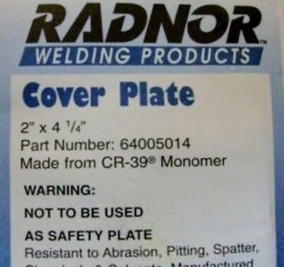 "RADNOR 64005014 CR-39 Clear Cover Plate Lens 2"" x 4-1/4"" QTY 100"