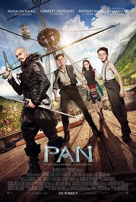 PAN Movie Poster - Original - DS - 27x40 - HUGH JACKMAN - FINAL