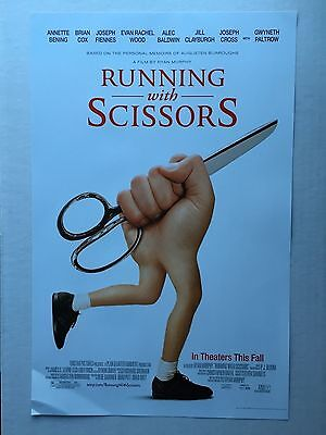 RUNNING WITH SCISSORS ROLLED 11x17 MOVIE POSTER ALEC BALDWIN