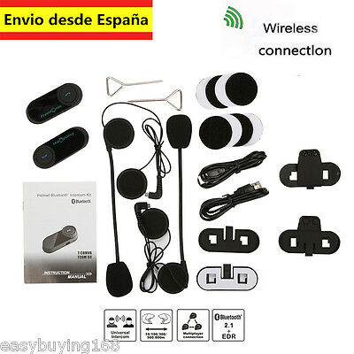 Motocicleta Bluetooth Auricular Moto Interfono BT Intercomunicador 800M T-COM