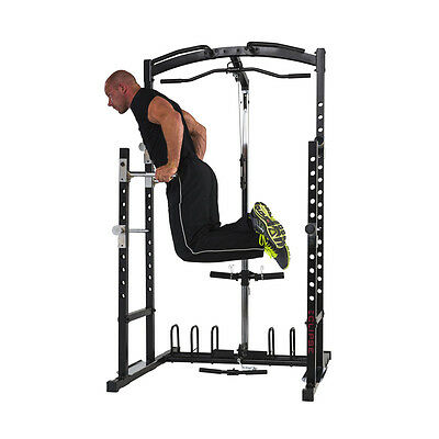 Banc musculation rack multifonction station musculation squat traction haltères