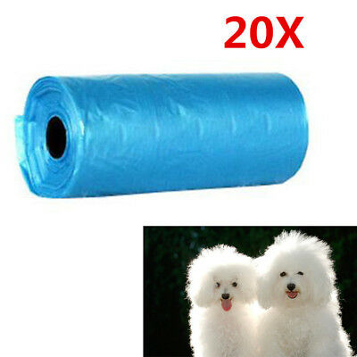 20 Rolls/400 Pcs Dog Pet Waste Clean Poop Bags Pick Up Pooper Bags Pet Supplies