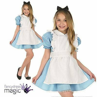 *Childs Girls Traditional Alice in Wonderland Book Day Week Fancy Dress Costume*