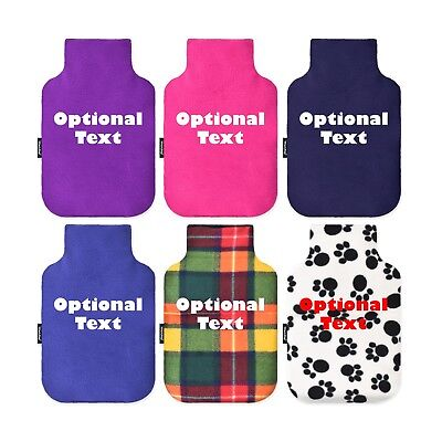 WheatyBags® Personalised Mini Hot Water Bottle Cover with Free 750ml Bottle