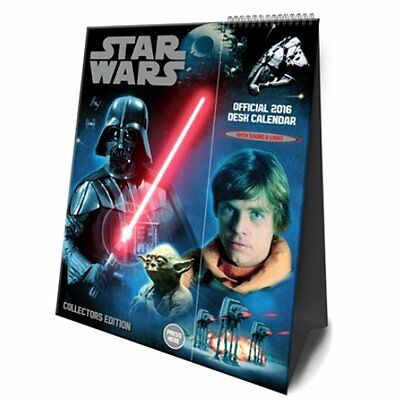 Official Star Wars Collectors Desk Calendar Light and Sound 2016
